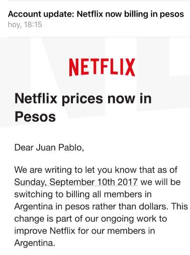 Netflix in Pesos